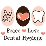 Peace Love Dental Hygiene Hygienist T Shirt Gifts