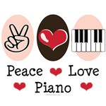 Peace Love Piano Player Teacher T shirt Gifts