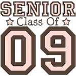 Senior 09 Class of 2009 T shirt Tees Gifts