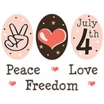 Peace Love Freedom 4th Of July T-shirt Gifts