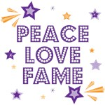 Shooting Stars Peace Love Fame T-shirt and Gifts