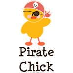 Pirate Chick T shirt Tees and Gifts