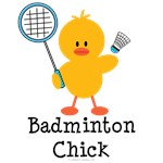 Badminton Chick T shirt Tees and Gifts