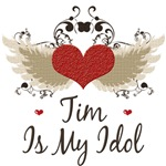 Winged Heart Tim Is My Idol T Shirt Tees Gifts