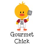 Gourmet Chick T-shirt Tees Cooking Gifts