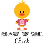 Senior 11 Class of 2011 Chick T-shirts Tees Gifts