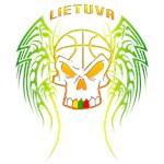 Lithuanian Basketball Tribal Skull