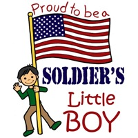 Proud to Be a Soldier's Little Boy (Black Hair)