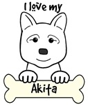 White Akita Cartoon