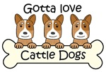 Three Red Australian Cattle Dogs