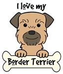 Grizzle & Tan Border Terrier Cartoon