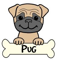 Pug Cartoon T-Shirts and Gifts