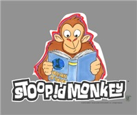 This Stoopid Monkey from the Robot Chicken television series has the Stoopid Monkey avidly reading a book.  A great tshirt for any fans of the Stoopid Monkey and Robot Chicken.