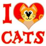 I Love (heart) Cats