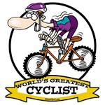 WORLDS GREATEST CYCLIST MEN CARTOON