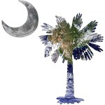 Earth and Moon Palmetto T-Shirt and Gifts