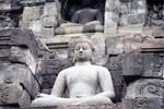 Gray Stone Budha Meditating