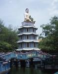 Japanese Budha Meditating Eastward