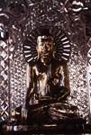 Mediatating Golden Budha Shrine