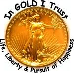 Gold Liberty Black Motto