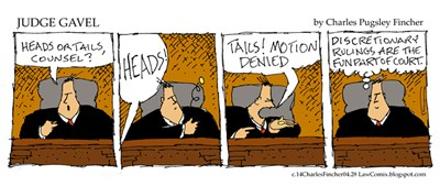 Judge Gavel Discretionary Ruling