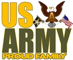 T-shirts, hats, stickers & gifts for the Army, Navy, Air Force, Marine, Coast Guard Veteran Family