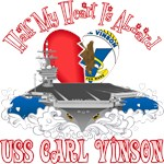 T-shirts, hats, mugs, stickers and gift items for USS Carl Vinson Family