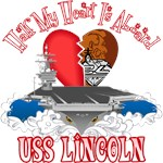 T-shirts, hats, mugs, stickers and gift items for USS Abraham Lincoln Family