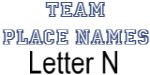 Team Place: Letter N