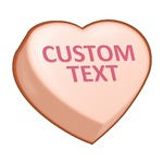 Orange Custom Candy Heart