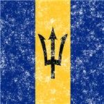 Vintage Barbados Flag