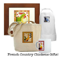 French Country Chickens (4 Designs)