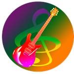 guitar music treble clef rainbow image