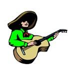 mexican guitarist green shirt player