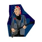 punk guitarist blue musician