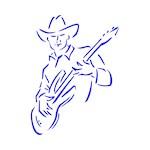 cowboy musician blue