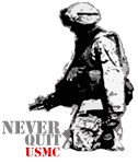 USMC Grunt NEVER QUIT Shirts & Gifts