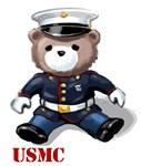 USMC Dress Blues Teddy Bear T-Shirts & Gifts