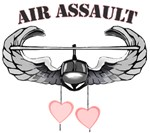U.S. Army Fastropping Air Assault Hearts T-Shirts