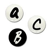 Alphabet Mini Buttons