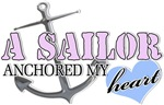 Sailor anchored my Heart blue Heart