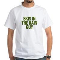 SKIS IN THE RAIN GUY