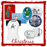 Christmas Tees, Ornaments, and Greeting Cards