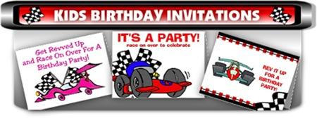 Racing Birthday Invitations