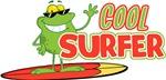 Cool Surfer Frog