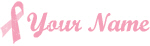 Vintage Breast Cancer Ribbon with Your Name