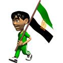 Cute 3D Afghanistan with 1992 Flag