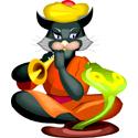 Snake Charmer Cat