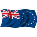 Wavy Cook Islands Flag