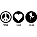 Peace Love Frog